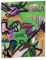 21‐4320<b>marsh harrier, lapwings & black tailed godwit</b>acrylic on irregular canvas76 x 60 cms£POA‐GregPoole