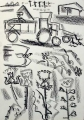 156‐4609 <b>hobby potato harvest</b>   60 x 42 cms ‐Greg Poole