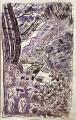 les ecrins black redstart ‐ screenprint & watercolour ‐ 32 x 21 cms ‐ £40 ‐‐GregPoole