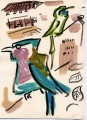 150‐4418 <b>indian roller & green bee-eater</b>   A4 (29.7 x 21cms) £110&#8208;Greg&nbsp;Poole