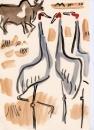 229‐7524sarus crane <br /> bharatpur, india <br /> gouache <br /> 29.7 x 21 cms (A4) <br /> £120‐GregPoole