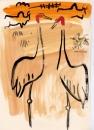 229‐7525sarus crane <br /> bharatpur, india <br /> acrylic <br /> 29.7 x 21 cms (A4) <br /> £120&#8208;Greg&nbsp;Poole