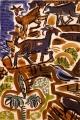 42‐5584<b>crete - blue rock thrush goats</b>gouache & charcoalA2 (42 x 59.4 cms)SOLD&#8208;Greg&nbsp;Poole