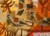 158‐4990<b>fieldfares & ash</b>woodcut & acrylic40 x 55 cms£270‐GregPoole