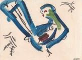 Prince Ruspoli's Turaco ‐ gouache & wax crayon ‐ 18 x 24 cms ‐ £40 ‐ ethiopia‐GregPoole