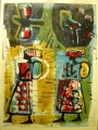 83‐5268 <b>women walking & turacos 2</b>   A1 (84 x 59.4 cms) SOLD&#8208;Greg&nbsp;Poole