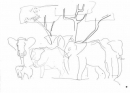 <b>elephants in shade</b>     inkpen   A3   £50&#8208;Greg&nbsp;Poole