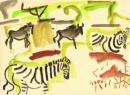 <b>zebra & wildebeest</b>   gouache  A3 ‐GregPoole