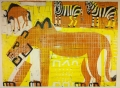 110‐5995<b>lion, zebra & wildebeest</b>Etosha, Namibiamonotype59.4 x 84 cms (c.A1)£350&#8208;Greg&nbsp;Poole