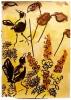 <b>barbados, carib grackles</b>    gouache  A2 (59.4 x 42 cms)  £150‐GregPoole