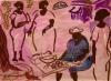 <b>barbados drug store ladies & doves</b>    gouache  42 x 57 cms  £240‐GregPoole