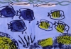 <b>barbados reef fish 2</b>      relief print with collage   30 x 42 cms   £150&#8208;Greg&nbsp;Poole