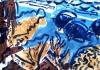 <b>barbados reef fish</b>    acrylic & gouache  42 x 60 cms  £150‐GregPoole