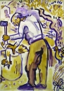 224‐7140<b>crete - goats asphodels</b>cretegouache & charcoal59.4 x 42 cms (c.A2)£150&#8208;Greg&nbsp;Poole