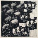 43‐1568<b>*</b>monoprint20 x 20 cms‐GregPoole