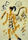 43‐1590<b>shepherdess with lamb & ewe</b>monotype38 x 28 cms£200&#8208;Greg&nbsp;Poole
