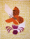 43‐1594 <b>silver-washed fritillary on knapweed</b>  relief print 70 x 53 cms £220‐Greg Poole