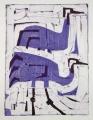 66‐3438<b>2 cranes</b>monoprintc. A4 (29.7 x 21cms)‐GregPoole