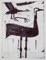 66‐3442<b>crane landing</b>monoprintc. A4 (29.7 x 21cms)‐GregPoole
