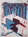 66‐3461 <b>smyrnah kingfisher & papyrus</b>  monoprint 27 x 20 cms &#8208;Greg&nbsp;Poole