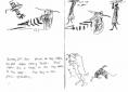 210‐6842hoopoe, wood collectors & goats <br /> dry sahel nr. dagana <br /> ink pen <br /> A5 sketchbook <br />&#8208;Greg&nbsp;Poole