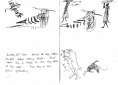 210‐6842hoopoe, wood collectors & goats <br /> dry sahel nr. dagana <br /> ink pen <br /> A5 sketchbook <br />‐GregPoole