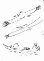 218‐6951<b>pelicans & pirogue</b>st louisink penA6 sketchbook‐GregPoole