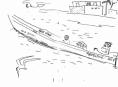218‐6954<b>pirogue, osprey & tern</b>st louisink penA6 sketchbook‐GregPoole