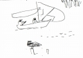218‐6955<b>osprey & sail boat</b>st louisink penA6 sketchbook‐GregPoole