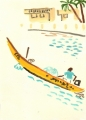 218‐6942<b>fisherman, st louis</b>st louisgouache35 x 25 cms‐GregPoole