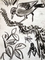 ant thrush 1 ‐ kibale, uganda charcoal ‐ 38 x 29 cms‐GregPoole