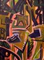 baboons ‐ acrylic ‐ 76 x 57 cms ‐ £250 ‐‐GregPoole