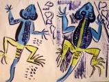blue agama lizard ‐ acrylic ‐ 57 x 76 cms ‐ £80 ‐     ‐GregPoole