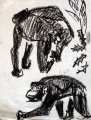 chimpanzees 1 ‐ charcoal ‐ 41 x 31 cms ‐ £70 ‐‐Greg Poole