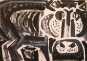 hippo 2 ‐ monoprint ‐ A2 (42 x 59.4 cms) ‐ £120 ‐     ‐GregPoole