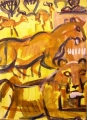 lions & kob ‐ acrylic ‐ 76 x 57 cms ‐ not available‐Greg Poole
