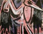 maribou ‐ monoprint & acrylic ‐ 42 x 52.5 cms ‐ £130 ‐     ‐GregPoole