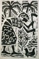 woman preparing ground ‐ woodcut ‐ 45 x 33 cms ‐ £60 ‐‐Greg Poole
