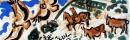 21‐4467<b>griffon vultures - picos</b>acrylic38 x 37 cms£120&#8208;Greg&nbsp;Poole