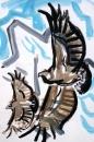 21‐4468<b>griffon vultures</b>acrylic27 x 84 cms£150‐GregPoole