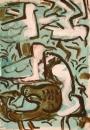 21‐4432<b>shoveler, lapwing & BH gulls</b>acrylic42 x 29.7 cms (A3)‐GregPoole