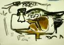 21‐4437<b>shoveler</b>gouacheA3 (29.7 x 42 cms)£POA‐GregPoole