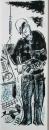 ringing a pochard 2 ‐ screenprint ‐ 57 x 23 cms ‐ £50 ‐‐GregPoole