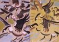 126‐4286<b>canada geese</b>30 x 42 cms£120‐GregPoole